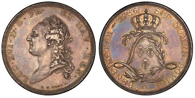 France. Louis XVI. ECU pattern.