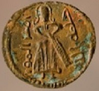 Arab-Byzantine, 690-702, mint of Manbij, copper fals, from the Antioch excavations. Source: Princeton University Numismatic Collection, Department of Rare Books and Special Collections, Firestone Library.