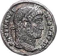 Lot 683: Römisches Reich, Constantinus I der Große, Bronze Follis, Constantinopolis 327. RIC VII, S.572, 19. Rufpreis: EUR 500,-