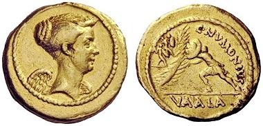 Los 2: C. Numonius Vaala, Aureus, 41 v. Chr. Schätzpreis: CHF 100.000.