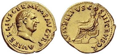 Los 506: Vitellius, Aureus. April-Dezember 69, Schätzpreis: CHF 80.000.