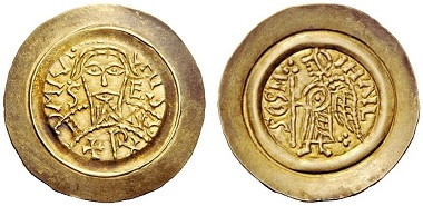 Lot 1314: Lombardy and Tuscany, Ratchis Tremissis, 744-749. Estimate CHF 20,000.)