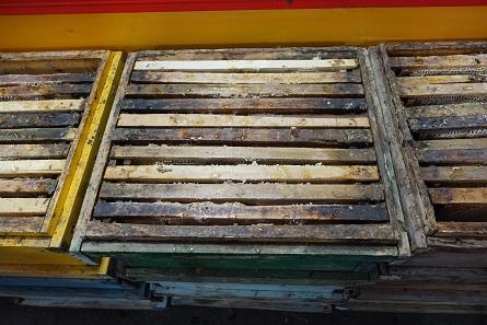 Honig wird hier in Waben verkauft. Foto: KW.