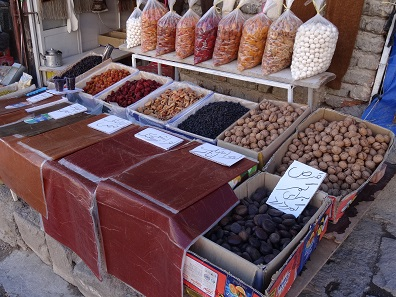 Dried fruit. But beware, they are not as sweet as we are used to... Photo: KW.