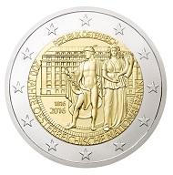 2-Euro-Gedenkmünze, 200 Jahre OeNB. Quelle: Geldmuseum der OeNB.