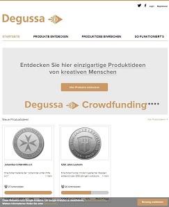 Degussas neue Crowdfunding-Webseite.