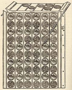The calculation board was used to quickly count the minted coins.