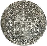 Lot 2204: Germany, Brunswick-Wolfenbuttle, Friedrich Ulrich, 2 thaler, 1618. Estimate: $1,000 / Realised: $3,220.