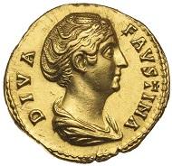 Lot 4415: Faustina senior, Rome, aureus. Estimate: $7,500 / Realised: $10,494.