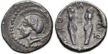 Lot 73: SICILY, Himera. Circa 479-409 BC. Litra. Gorini, Gruppo 18; HGC 2, 445. VF. From the David Wray Collection. Estimate $300.
