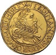 Römisch Deutsches Reich. Ferdinand II., 1619-1637. 10 Dukaten 1631, Nagybanya. Sehr selten.