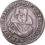 Deutschland. Albrecht von Wallenstein, 1623-1634, Herzog von Friedland. Reichstaler 1626, Jitschin. Sehr selten.