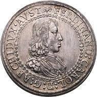 Römisch Deutsches Reich. Ferdinand Karl, 1632-1662. Doppeltaler o. J., Hall.