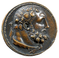 Medal on Hercules featuring Deianeira handing over the poisoned robe to the hero, specimen from the collection of Ludovic Demoulin de Rochefort (1515-1582) integrated in the Amerbach Cabinet, Basel Historical Museum (HMB) inv. 1905.744.