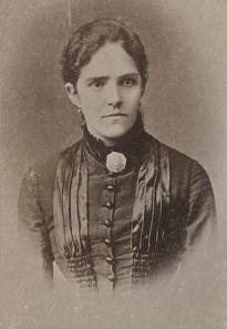 Susanna Umlauft, erste qualifizierte weibliche Arbeitskraft in der Nationalbank. Quelle: Geldmuseum der OeNB.