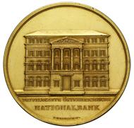 Medaille zur Grundsteinlegung, 1821. Quelle: Geldmuseum der OeNB.
