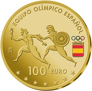 Spain / 100 euros / 999 gold / 6.75g / 23mm / Mintage: 2,500.