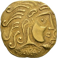 Lot 3: PARISII. Gold stater, around 60 BC. Very rare. Good very fine. Estimate: 20,000 euros.