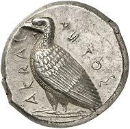 Nr. 17: AKRAGAS (Sizilien). Tetradrachme, 471-430. Sehr selten. Vorzüglich. Taxe: 20.000 Euro.