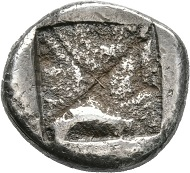 Lot 36: BERGE (Thrace). Stater, around 500. Ex Pozzi Coll. 688. Very rare. Extremely fine. Estimate: 40,000 euros.