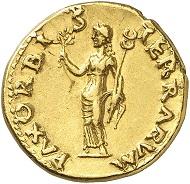 Nr. 118: OTHO, 69. Aureus, Rom. Sehr selten. Vorzüglich. Taxe: 75.000 Euro.