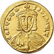 Nr. 197: ARTAVASDUS, 742-743. Solidus mit Nikephoros. Äußerst selten. Vorzüglich. Taxe: 35.000 Euro.