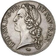 Nr. 1072: FRANKREICH. Ludwig XIV., 1643-1715. Ecu au bandeau 1740 A, Paris. Fast Stempelglanz. Taxe: 5.000 Euro.