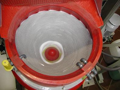 View inside a polishing drum. © Swissmint.