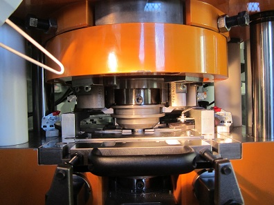 View inside the minting press. Photograph: UK.