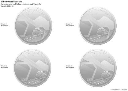 Varianten nach der ersten Überarbeitung. © Trümpi & Partner.