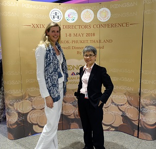 As regards coins, the international collaboration works very well: In some practical questions, Wanna Yindeeyangyurn of the Royal Thai Mint was assisted by Ms Else Meijer of the Royal Dutch Mint. Photograph: UK.