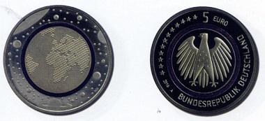 BRD. 5 Euro 2016. Auflage: 2.000.000
