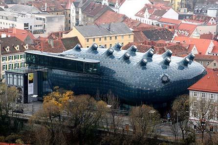 Joanneum Graz / Kunsthaus. Foto: Marion Schneider & Christoph Aistleitner / Wikipedia.