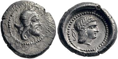 Lot 156: Xanthos (Lycia). Stater, ca. 450-430. Extremely fine. Estimate: 5,000 euros. Starting price: 3,000 euros.