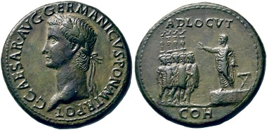 Lot 215: Caligula, 37-41. Sestertius, 37-38. Slightly smoothed, otherwise about extremely fine. Estimate: 3,000 euros. Starting price: 1,800 euros.