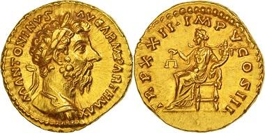 Marcus Aurelius, Aureus Not Applicable. Rome.