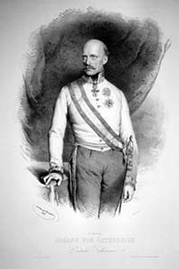 Erzherzog Johann in 1848. Source: Wikipedia.