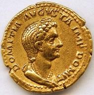 Aureus des Kaisers Domitian für Domitia Augusta, 82/83 n. Chr. (Landesmuseum Württemberg, Stuttgart, Inv.-Nr. MK 19681). © Landesmuseum Württemberg, Stuttgart, Foto: Hendrik Zwietasch und Adolar Wiedemann.