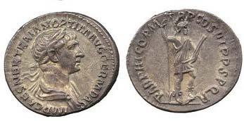 TRAJAN. Denar. Ex St. James's 10, n. 62. 3,38 g.