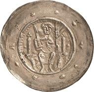 Los 2195: Hermann I. (1190-1217). Brakteat. Fd. Erfurt 148 (rechte Hälfte). Von größter Seltenheit. Schätzpreis: 2.800 Euro.