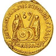 501856: Augustus, Aureus, Lyons, AU(50-53), Gold, RIC:206. 22,000 EUR.