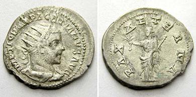 PACATIANUS. Antoninian. Ex Tkalec (17/05/10) lot n. 382. 4,68 g.