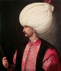 Süleyman der Prächtige auf einem Tizian zugeschriebenen Gemälde, um 1530.