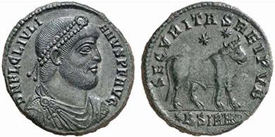JULIAN II. Doppelte Maiorina. Ex Lanz 125, (28.11.2005) lot 1128. 8,36 g.