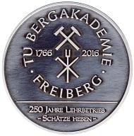 Vorderseite der Jubiläumsmedaille 250 Jahre Lehrbetrieb.