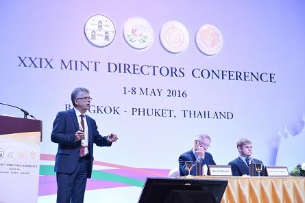 Dr. Peter Huber, Münzleiter der Münzen Baden-Württemberg und Vorsitzender des Benchmarking Committee. Foto: Mint of Thailand.