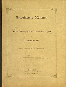 Lot 84: F. Imhoof-Blumer, Griechische Münzen. Neue Beiträge und Untersuchungen. Munich, 1890. Start price: $400.