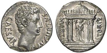AUGUSTUS. Denar. Ex Kuenker 168 n.7588. 3,41