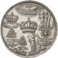 Brandenburg-Prussia. Frederick I, 1701-1713. Silver medal year 1 (1701) by J. Kittel. Rare. Very fine to extremely fine. Estimate: 2,500 euro. From Künker auction sale 278 (2016), 1653.