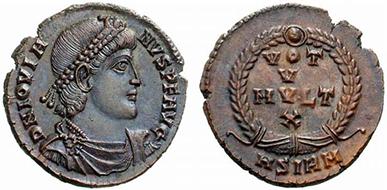 JOVIAN. Centenionalis. Ex Tkalec 76, lot n. 257. Rif. bibl. R.I.C., 118. 3,05 g.